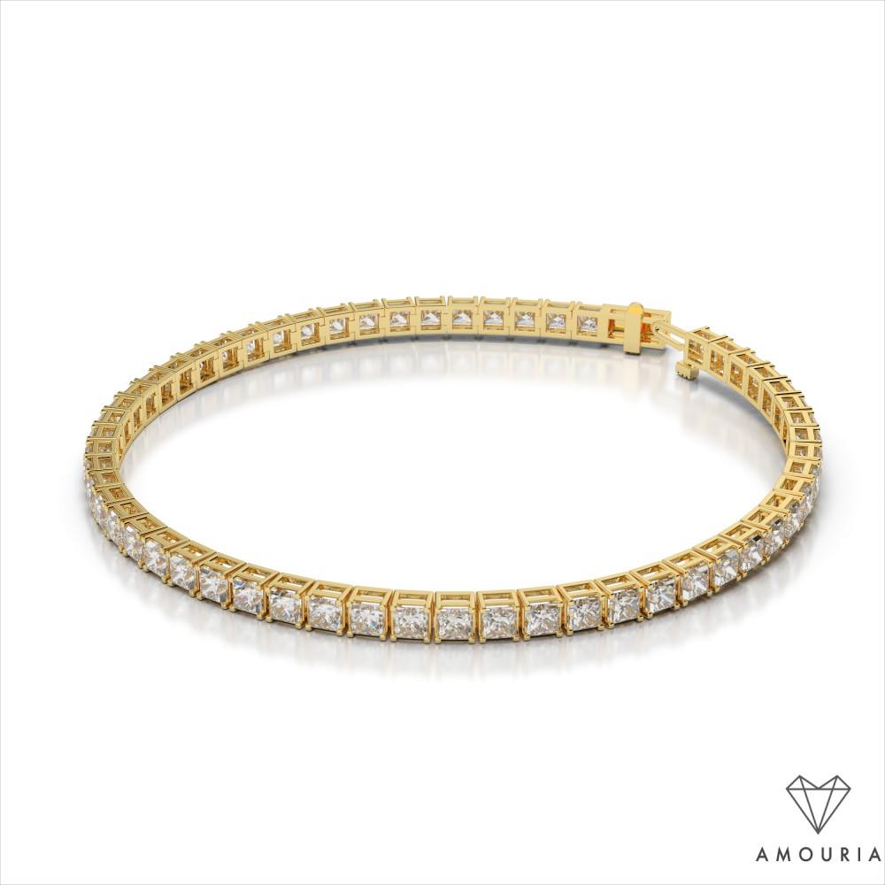 Princess Cut Diamond Tennis Bracelet Amouria