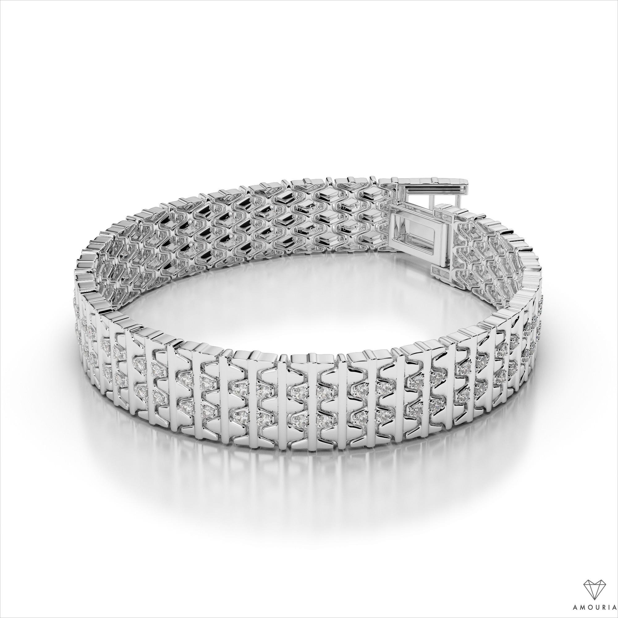 d07e0b0a74d009 Men's Two-Tone Diamond Bracelet. $3,492.00. $3,143.00. Customize Bracelet.  14k White Gold ...