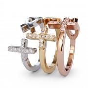 Diamond Cross & Fish Symbol Ring