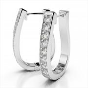 Oval Hoop Diamond Earrings