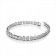 Vintage Oval Link Diamond Bracelet