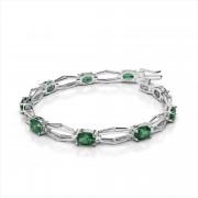 Hexagon Link 7x5mm Gemstone Bracelet