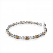 Classic Twist Diamond and Gemstone Bracelet