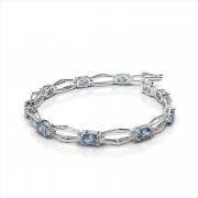 Hexagon Link Gemstone Bracelet