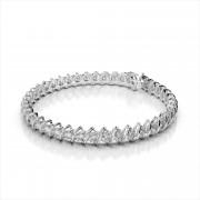 Diamond Swirl Link Tennis Bracelet