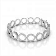 Diamonds Circle Link Bracelet