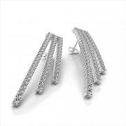 Diamond Triple Row Earring