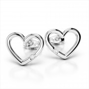 Brilliant Diamond Heart Earrings