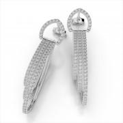 Diamond Three Strand Drop Earrings