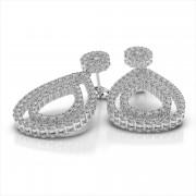 Double Teardrop Diamond Earrings