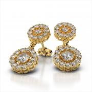 Double Diamond Circle Earrings