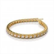 Antique Square Link Diamond Bracelet