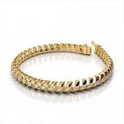 Spiral Link Diamond Tennis Bracelet