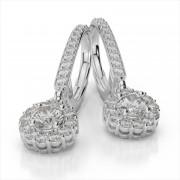 Diamond Drop Halo Earrings