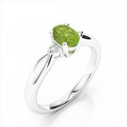 Diamond 7x5mm Oval Gemstone Ring