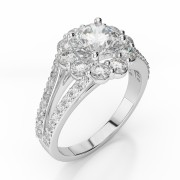 Diamond Split Shank Halo Engagement