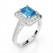 Vintage 7x5mm Emerald Cut Gemstone Ring