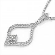 Inverted Heart Diamond Pendant