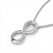 Classic Diamond Infinity Pendant