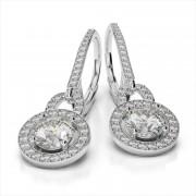 Diamond Shepard Hook Drop Earrings