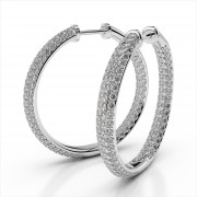 Pave Diamond Inside Out Hoops