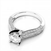 Stunning Micropavé Diamond Engagement Ring
