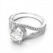 Diamond Engagement Semi-Mount Ring
