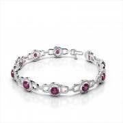 Diamond & Gemstone Circle Bracelet