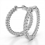 Diamond Inside Out Hoops