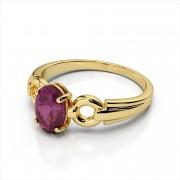 Oval Gemstone Open Link Ring