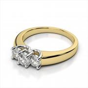 Three-Stone Trellis Diamond Ring