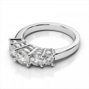 Five Diamond Graduated Wedding Band
