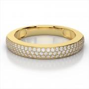Diamond Galore Wedding Band