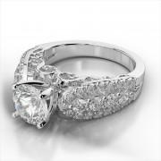 Diamond Scroll Engagement Ring