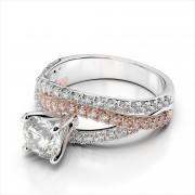 Crisscross Diamond Engagement Ring