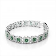 Fancy Diamond and Gemstone Cluster Bracelet