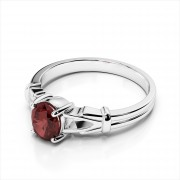 Oval Gemstone Split-Shank Ring