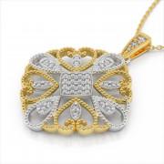 Filigree Pave Diamond Pendant