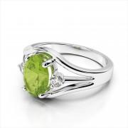 Diamond & 7x5mm Color Ring
