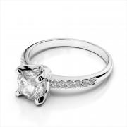 Diamond Semi-Mount Engagement Ring Round Center