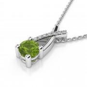 Diamond X and Gemstone Pendant