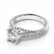 Diamond Engagement Ring With Rope Design