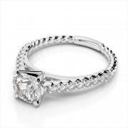 Rope Design Engagement Ring