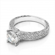 """Diamond Engagement Ring with """"S"""" Design"""