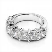 Shared Prong Princess Cut Diamond Band