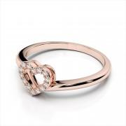 Radiant Diamond Heart Ring