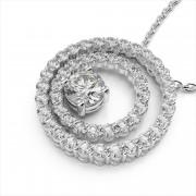 Diamond Double Circle Pendant