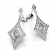 Studded Diamond Drop Earrings
