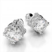 Studded Prong Diamond Studs