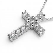 Four Prong Diamond Cross
